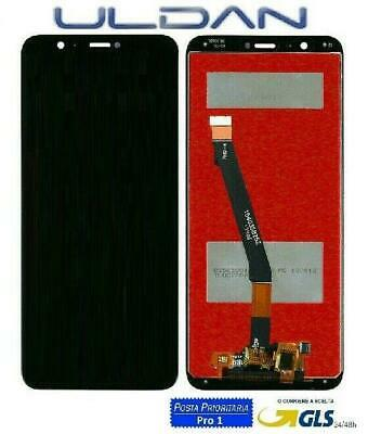 LCD DISPLAY Per HUAWEI P SMART FIG-LX1 LX2 LX3 ENJOY 7S TOUCH SCREEN VETRO NERO