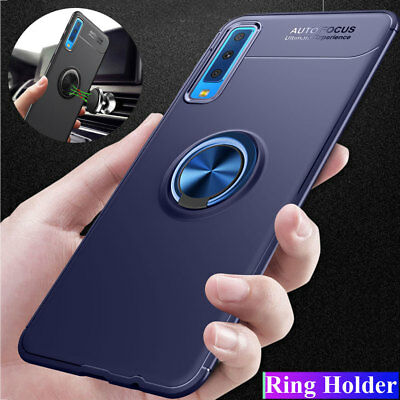 Antiurto Custodia Cover Per Samsung Galaxy A7 2018/J4 J6 Plus Ring Stand Case