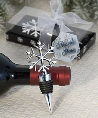 Elegant Snowflake Alloy Red Wine Stopper Xmas Gift Wine Bottle Stopper 11cmFEH