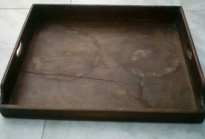 Vintage Large Wooden Breakfast Tray