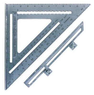 Swanson Big Speed Square 12 with Layout Bar Miter Square Angle Finder