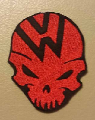 VW Skull Embroidered Patch