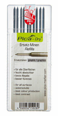 Pica DRY Pencil Refills For 3030 Long Life Markers 10 x Graphite Leads 4030