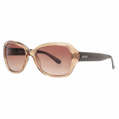 Kenneth Cole Reaction KC1297 45F Women's Champagne Brown Oversized Sunglasses