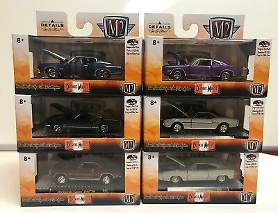 M2 Machines Detroit Muscle Release 43: 1/64 Complete Set Of 6 Vehicles
