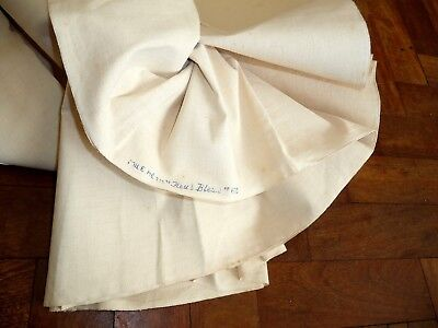 Unused vintage Fleur Bleue French Metis sheet fabric 2.20 x 3.18m (4 available)