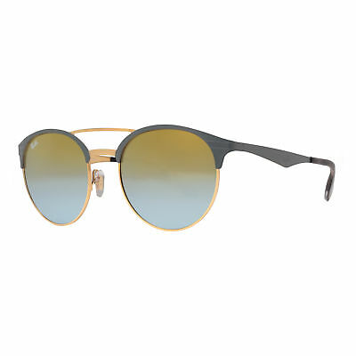 0ace9d12d4 Ray Ban RB3545 9007 A7 54mm Grey Gold Green Gradient Mirror Round Sunglasses