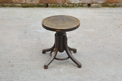 industrial stool vintage wooden round rotating industrial chair - FREE POSTAGE