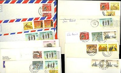 11 Zimbabwe Africa Airmail Postage Due $1 $2 Victoria Hwange Stamp Cover Lot R78