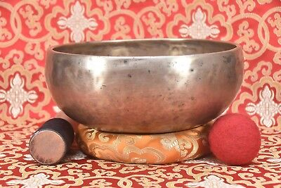 Ancient Old Antique Tibetan Singing Bowl Handmade ~Yoga Meditation THERAPY Nepal
