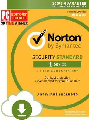 Norton Security Standard - 1 Device - Code Download (Hardware Attach Only)