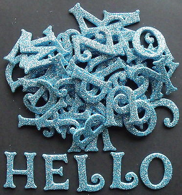 Pack Of 52 Glitter Foam Letters