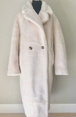 quality products wide range vast selection H&M FAUX FUR Teddy Bear Coat, White/Cream, Size 12 /EU 44 NWT, SOLD OUT