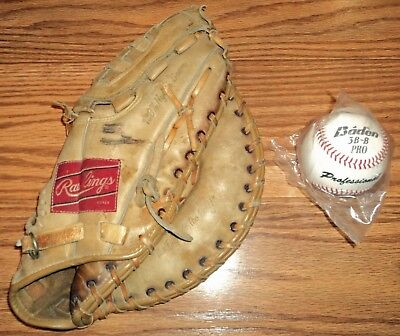 Rawlings Fastback RHT First Baseman Mitt + Baseball Glove FJ35 Chris Chambliss