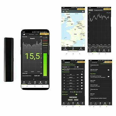 Atom Simple Radiation Detector Dosimeter for Smartphones and Tablets