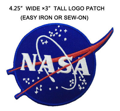 New NASA Space Center Astronaut Program Vector Embroidery Badge Iron On Patch