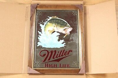 Miller High Life Beer Mirror Bass 1st Edition 1st Printing New in Box Rare