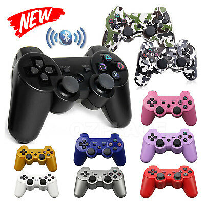 2x Wireless Bluetooth Game Controller Dual Shock for Sony PS3 + USB Cables