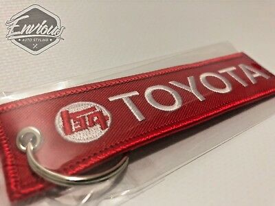 Toyota Teq Landcruiser Red Jet Tag Red Keyring