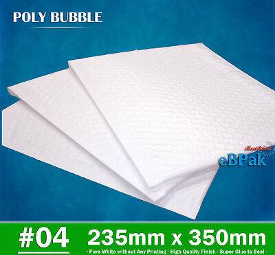 Top Quality Poly Bubble Mailer #04 235x350mm Plastic Padded Bag Envelope