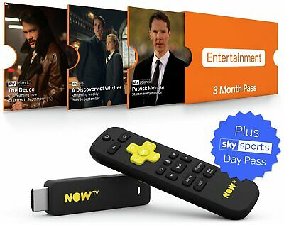 NOW TV Stick With 3 month Entertainment + 1 Day Sports Pass.