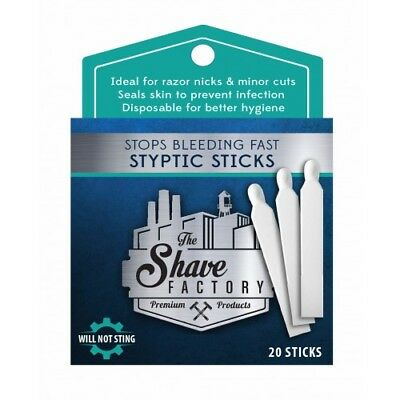 1xpk The Shave Factory 20x Styptic Sticks Stops Bleeding Fast ALSO SELL WAHL