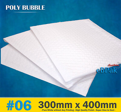 Top Quality Poly Bubble Mailer #06 300x400mm Plastic Padded Bag Envelope