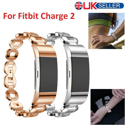 Fitbit charge 2 Replacement Crystal Stainless Steel Watch Band Wrist Strap UKD