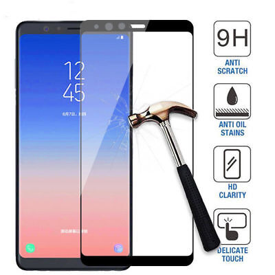 Full Coverage Tempered Glass Screen Protector For Samsung Galaxy A6/A8/+/A9 2018