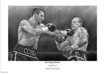 MUGS AND PHOTO PRINTS GEORGE GROVES vs CARL FROCH 01 BOXING
