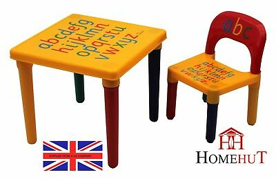 Table and Chair Set Large ABC Alphabet Childrens  - Kids Toddlers Childs - Gift