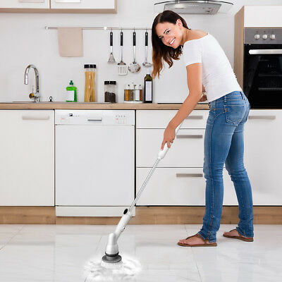 URCERI Electric Spin Scrubber 5Interchangeable Cleaning Scrubber Brush Heads
