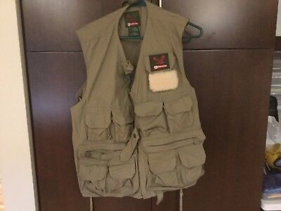 Garcia Fly Fishing Vest, One Size Fits All, , Lamb Skin Patch Great Shape