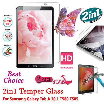 """Tempered HD Clear Glass Screen Protector For Samsung Tab A6 10.1"""" Inch T585/T580"""