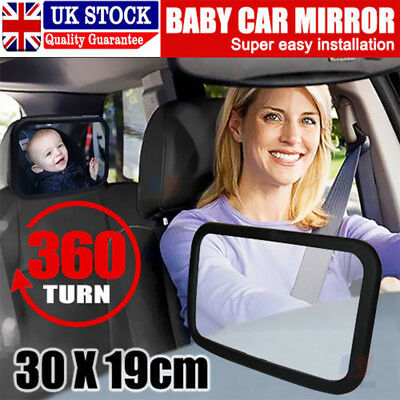 Car Baby Child Inside Mirror View Rear Ward Back Safety Facing Care Infant Large