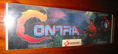 CONTRA Arcade Game Marquee / FREE