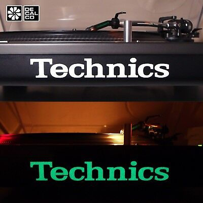 Technics Glow In The Dark - Decal Sticker - SL-1200 / SL-1210 Turntable