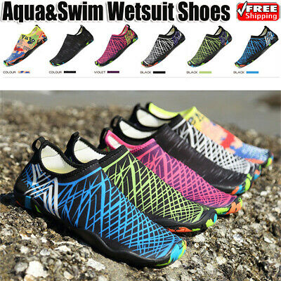 Mens Womens Water Shoes Aqua Shoes Beach Wet Wetsuit Shoes Swim Surf Shoes UK FN