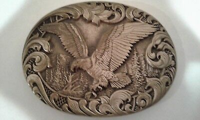 Vintage Solid Brass **american Bald Eagle** Award Design Medals Belt Buckle