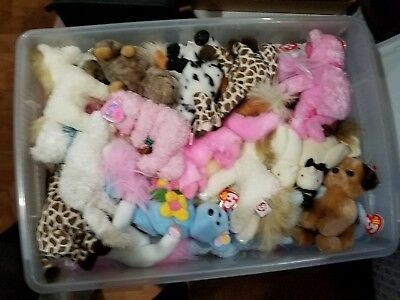 caf2897d61d LOT OF 25 Miscellaneous TY Beanie Babies Many MINT With Tags -  9.99 ...