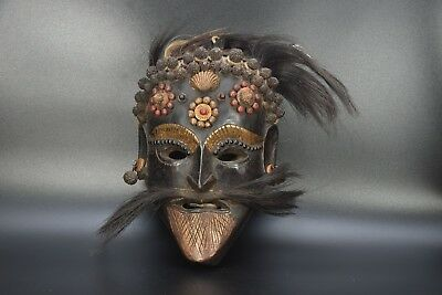 Wooden Magar Tribe Tharu Shamanic Ritual ShamanRare Mountain Mask Old MaskNepal
