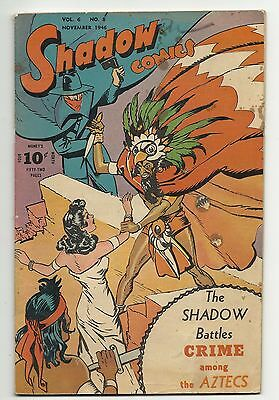 Golden Age Shadow Comics Vol. 6 #6 - GD/VG 3.0 - Nick Carter and MORE