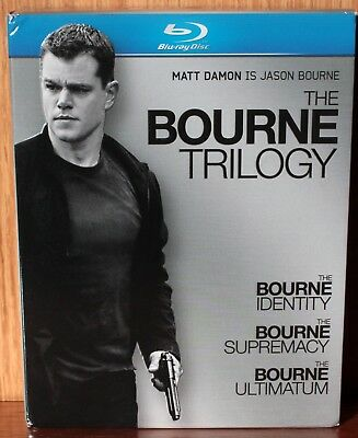 The Bourne Trilogy 3-Disc Boxed Set - Blu ray Like New