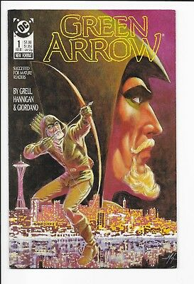 Green Arrow #1,  Vol. 2, Copper-Age Comic Book, DC, 1988- 99cents!