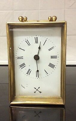 A Lovely H A C Made In Wurrttemberg Wind Up Mantle Clock ++Working Order++