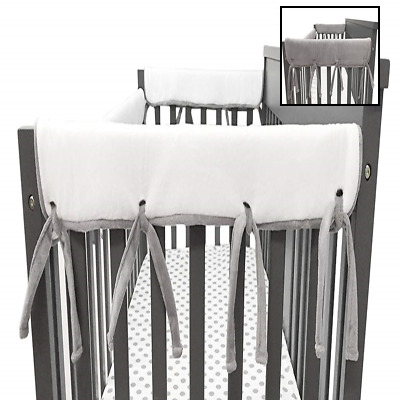 American Baby Company 2 Pack Heavenly Soft Chenille Reversible Crib Rail Cover F