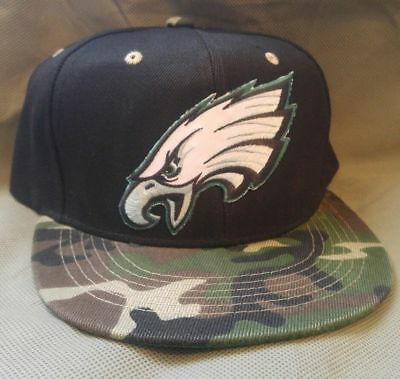 ee5c36fa36dc9 Philadelphia Eagles Flat Bill Snapback Structured Ball Cap Camo Bill Go  Birds!