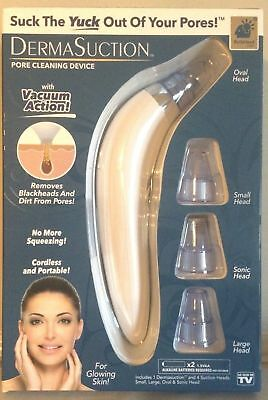 *DERMA SUCTION DermaSuction Pore Cleaning Device Genuine Bulbhead NEW SHIPPED*