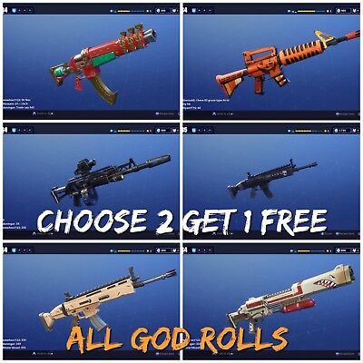Fortnite Save The World Guns PL 106 Grave digger,Nocturno,Drumroll,PS4,XBOX & PC