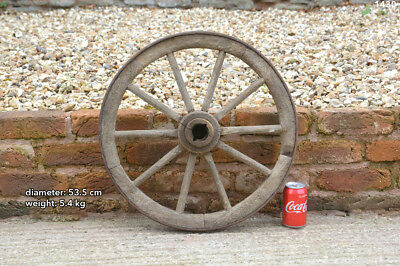 Vintage old wooden cart wagon wheel  / 53.5 cm /  5.4 kg- FREE DELIVERY